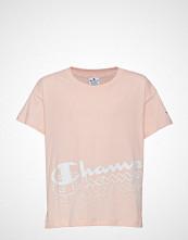Cènnìs Crop Top T-shirts & Tops Short-sleeved Rosa CHAMPION
