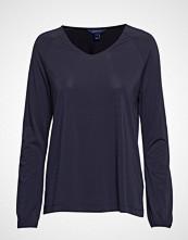 Gant D1. V-Neck Top T-shirts & Tops Long-sleeved Blå GANT