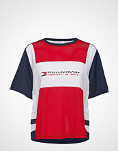 Tommy Sport Mesh Tee Logo T-shirts & Tops Short-sleeved Rød TOMMY SPORT