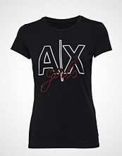 Armani Exchange Woman Jersey T-Shirt T-shirts & Tops Short-sleeved Svart ARMANI EXCHANGE