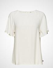 Lexington Clothing Ellis Viscose Top Bluse Kortermet Hvit LEXINGTON CLOTHING