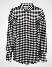 Cheap Monday Seize Shirt Gingham Check Langermet Skjorte Svart CHEAP MONDAY