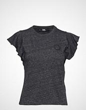 Karl Lagerfeld Ruffle Sleeve T-Shirt T-shirts & Tops Short-sleeved Grå KARL LAGERFELD