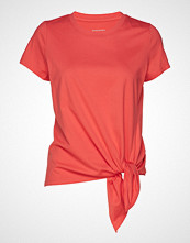 Banana Republic Ss Tie Hem Supima Crew T-shirts & Tops Short-sleeved Rød BANANA REPUBLIC