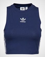 Adidas Originals Crop Tank T-shirts & Tops Sleeveless Blå ADIDAS ORIGINALS