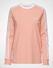 Adidas Originals 3 Str Ls Tee T-shirts & Tops Long-sleeved Rosa ADIDAS ORIGINALS