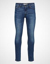 Mango Man Slim-Fit Faded Dark Wash Jan Jeans Slim Jeans Blå MANGO MAN