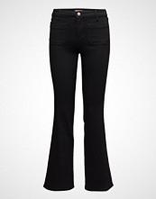 Wrangler Flare Jeans Sleng Svart WRANGLER