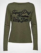Superdry Darla Graphic Top T-shirts & Tops Long-sleeved Grønn SUPERDRY