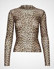 Gina Tricot Sia Mesh Top T-shirts & Tops Long-sleeved Brun GINA TRICOT