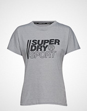 Superdry Sport Core Sport Graphic Tee T-shirts & Tops Short-sleeved Grå SUPERDRY SPORT