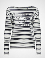 Superdry Gracie L/S Stripe Top T-shirts & Tops Long-sleeved Hvit SUPERDRY