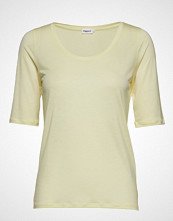 Filippa K Tencel Scoop-Neck Tee T-shirts & Tops Short-sleeved Gul FILIPPA K