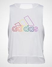 Adidas Otr Tank Pride T-shirts & Tops Sleeveless Hvit ADIDAS