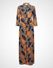 Minus Kriss Long Shirt Dress Maxikjole Festkjole Multi/mønstret MINUS