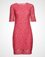 Saint Tropez Woven Dress Below Knee Knelang Kjole Rosa SAINT TROPEZ
