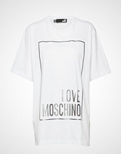 Love Moschino W4f8722m3517 T-shirts & Tops Short-sleeved Hvit LOVE MOSCHINO