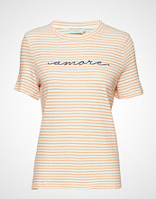Morris Lady Aletta Tee T-shirts & Tops Short-sleeved Creme MORRIS LADY