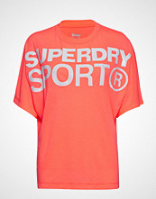 Superdry Sport Active Loose Bf Tee T-shirts & Tops Short-sleeved Rød SUPERDRY SPORT