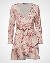 Gina Tricot Elina Wrap Dress Kort Kjole Rosa GINA TRICOT
