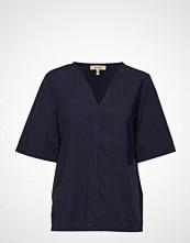 Whyred Dix Short Stripe Bluse Kortermet Blå WHYRED