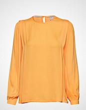 Scotch & Soda Long Sleeve Top With Pleat Details Bluse Langermet Oransje SCOTCH & SODA