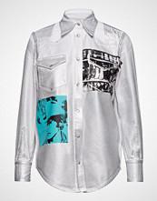 Calvin Klein Foundation Western Shirt Langermet Skjorte Hvit CALVIN KLEIN JEANS