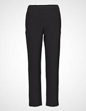 Marimekko Elena Long Solid Trousers Bukser Med Rette Ben Svart MARIMEKKO