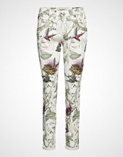 Mos Mosh Naomi Fly Pant Bukser Med Rette Ben Multi/mønstret MOS MOSH