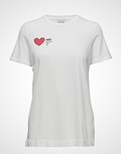 By Malene Birger Flecka T-shirts & Tops Short-sleeved Hvit BY MALENE BIRGER
