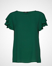 Bruuns Bazaar Lilli Rachel Top T-shirts & Tops Short-sleeved Grønn BRUUNS BAZAAR