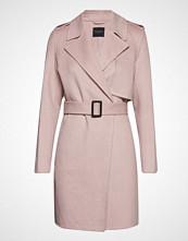 Selected Femme Slftana Short Coat B Ullfrakk Frakk Rosa SELECTED FEMME