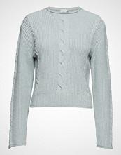 Filippa K Cable R-Neck Sweater Strikket Genser Blå FILIPPA K