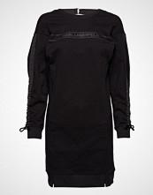 Karl Lagerfeld Logo Sweatdress W/ Logo Tape Knelang Kjole Svart KARL LAGERFELD