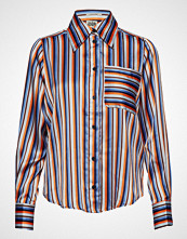 Twist & Tango Nathalie Shirt Orange Stripe Langermet Skjorte Rød TWIST & TANGO