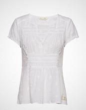 Odd Molly Facile Flower Blouse T-shirts & Tops Short-sleeved Hvit ODD MOLLY