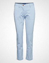 Gant Classic Cropped Chino Chinos Bukser Blå GANT