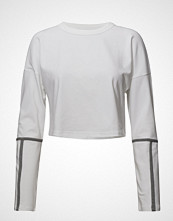 Under Armour Heavyweight Cropped Crew T-shirts & Tops Long-sleeved Hvit UNDER ARMOUR