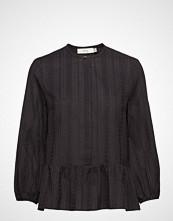 Mayla Stockholm Leah Embroidery Blouse Bluse Langermet Blå MAYLA STOCKHOLM