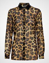 GUESS Jeans Ls Leslie Shirt Bluse Langermet Brun GUESS JEANS