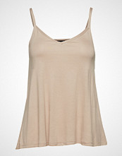 Gina Tricot Emilia Singlet T-shirts & Tops Sleeveless Beige GINA TRICOT