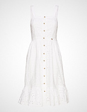 Superdry Camille Button Schiffli Dress Kort Kjole Hvit SUPERDRY