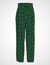 Calvin Klein Prt Love Silk Drawst Vide Bukser Grønn CALVIN KLEIN
