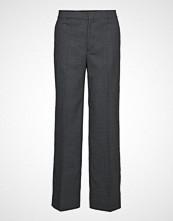 Filippa K Hutton Wool Crepe Trouser Bukser Med Rette Ben Grå FILIPPA K