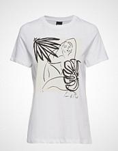 Gina Tricot Bathilda Tee T-shirts & Tops Short-sleeved Hvit GINA TRICOT