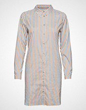 Denim Hunter Dhetta Shirt Dress Kort Kjole Beige DENIM HUNTER