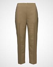 3.1 Phillip Lim Tailored Pant W Grosgrain Trim Bukser Med Rette Ben Brun 3.1 PHILLIP LIM