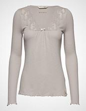 Odd Molly Rib-Eye Top T-shirts & Tops Long-sleeved Beige ODD MOLLY
