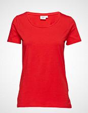 Saint Tropez T-Shirt With Round Neck T-shirts & Tops Short-sleeved Rød SAINT TROPEZ