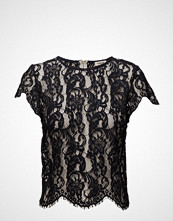Valerie Corn Top T-shirts & Tops Short-sleeved Svart VALERIE